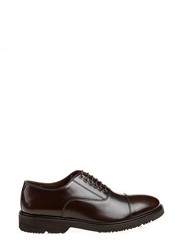 Divarese %100 Deri Bağcıklı Klasik Ayakkabı Kahve